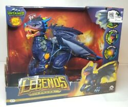 Wowwee Untamed Legends Dragon Vulcan Dragon Lights Sounds Wings Glows Toy, New