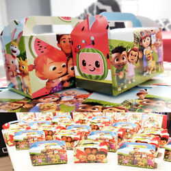 COCOMELON GIFT BOX FAVOR LOOT Birthday Party Decoration supplies baby shower $12.99