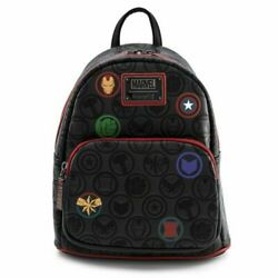 Avengers Icons Loungefly Faux Leather Mini Backpack New w tags $69.99