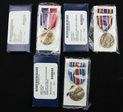 Lot Of 3 X Genuine Us Army Boxed Medals War On Terror / Kosovo / Expeditionary