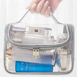 Clear Wash Makeup Bag Travel Cosmetic Transparent PVC Toiletry Pouch Organizer $9.99