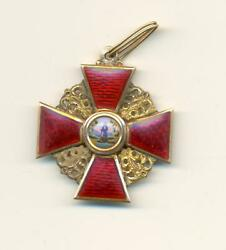 Russian Imperial Order Of St. Anna Third Class
