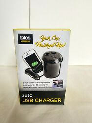Totes Auto Charger with USB for on the go Charging C4 NEW $14.95