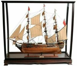 37 Large Hms Surprise Wooden Ship And Case Combo Model Replica Collectible Decor