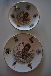 Vintage Arklow Made In Ireland Plate And Bowl Set Nursery Rhymes