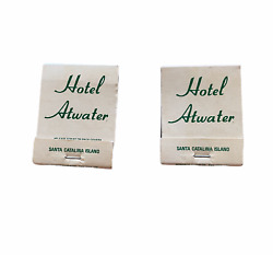 Lot Of 2 Vintage Hotel Atwater Matchbooks Avalon Catalina - New Old Stock