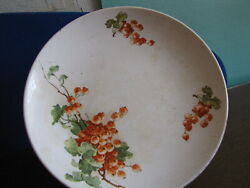 Antique Factory Jessen Riga Wall Plate Rare Collectibles Red Currant
