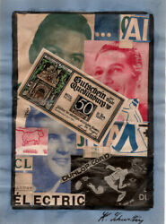 Schwitters, Attribution, 3 Collages Signed Lr, German