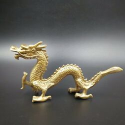 Chinese Antique Brass Dragon Home Decorations Town House Evil
