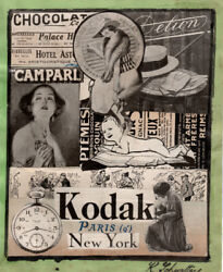 Schwitters, Attribution, Collage Signed Lr, German