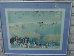 Limited Edition Signed Numbered 39/120 Print Native American Earl Biss