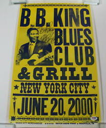 Bb King Signed Autograph Concert Poster - Very Rare Nyc New York 6/20/00 - Psa