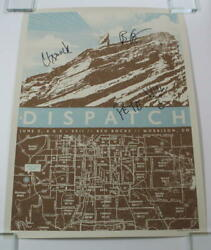 Dispatch Full Band Signed Autograph Concert Tour Poster - Red Rocks 2011