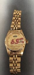 Dale Jarrett Gold Plated Stainless Women's Watch 88 Ford