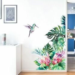 Colibri Bird Wall Stickers Bedroom Decor Tropical Home Sticker Removable Decals