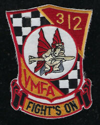 Vmfa-312 Checkerboarders Patch Us Marines 2nd Maw Mag-31 Pin Up Mcas Beaufort