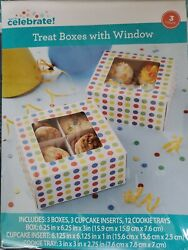 Lot Of 40x3 120 Totalway To Celebrate Treat Boxes With Window 120 Count