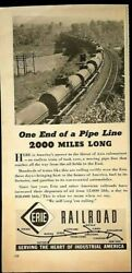 Vintage Ad Collectible Erie Railroad Ad 1942 Time Mag. World War Ii Ad Ub349