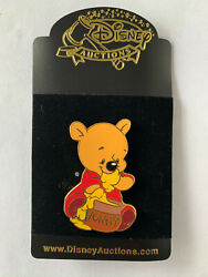 Disney Auctions Baby Winnie The Pooh With Honey Pot Hunny Pin Le 250 New Noc