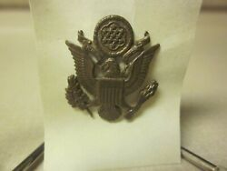 Ww1 U. S. Army Officer's Garrison Cap Insignia Device Very Good Used Condition
