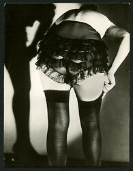 French Diana Slip Lingerie Co. Photo Roger Schall Fetish Panties Stockings 1930