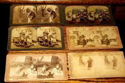 V114,nice Lot Of 1897 Stereoviews Children Various Pub Mostly 1800's
