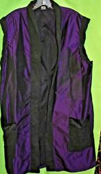 Art Of Cloth 3x Puple Duster Sleeveless Jacket With Black Accents