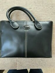 Smooth leather women#x27;s small tote handbag; color: black; from Italiy $10.99