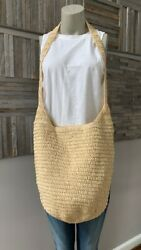 BUJI BAJA Woven Soft Crossbody Hobo Tote Bag in Natural New With Tags $40.80