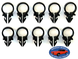 Ford 1/2 Engine Headlight Dash Horn Wiring Harness Hose Clamp Clips 10pcs Sq