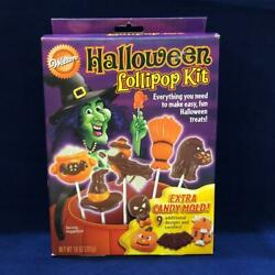 Vtg Wilton Candy Melt Halloween Assorted Lollipop And Candy Molds Witch Cat And More