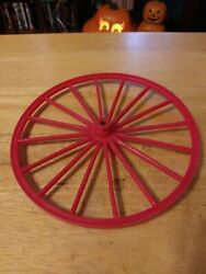 Marx Johnny West Horse And Covered Wagon Rear Wheel Original Replacement Part