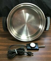 Webalco Stainless Steel 11 Electric Fry Skillet 900 Watts 17209 Vtg No Lid Usa
