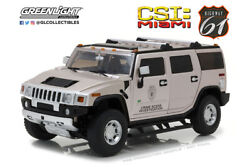 Scale Model Car 118, Hummer H2 2003 From The Tv Series C. S. I. Miami Crime S