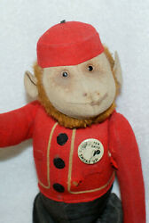 20's Estate Schuco Mohair And Red Blue Felt Yes/no Monkey Fully Jointed - 12