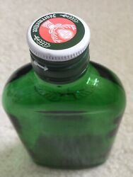 Jagermeister Green Glass Embossed Empty Liquor Bottle Collectible