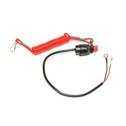Universal Boat Outboard Engine Motor Kill Stop Switch With Safety Tether Lanyard