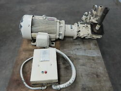 Vickers Pvb45a Rsf 10ca11 Hydraulic Piston Pump With 30 Hp Motor W/motor Starter