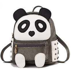 Cute Panda Backpack for Girls and Boys Waterproof Leather Small Travel Bag $24.99