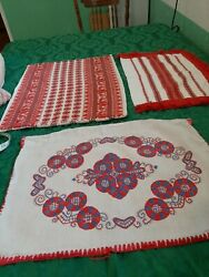 Vintage Embroidered Pillowcases Lot