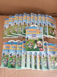 Vtech V Reader Mickey Mouse Clubhouse Brand New - Lot Of 21