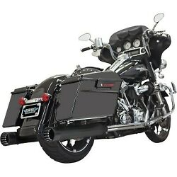 Bassani 4 Dnt Straight Can Mufflers Black W/ Black End Caps For 95-16 Touring