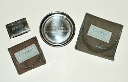 For Air France Vintage 1960 Silver Jet Inaugural Tray And Matchbox Rare
