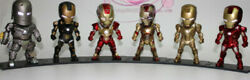 Iron Man Figure Toy Ornaments Can Be Illuminated Marvel Doll Doll Pvc