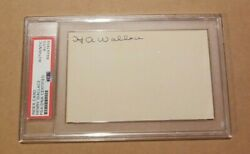 Henry Agard Wallace Signed Psa Dna Vice President For Fdr Autograph Auto Cut 2