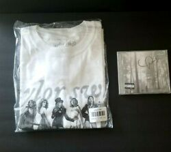 Taylor Swift Folklore In The Trees Limited Edition Cd Signed And Eras T Shirt M