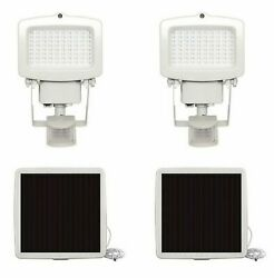 Lot Of 2 Westinghouse 80 Led Pir Motion Activated Solar Security Light, White