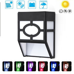 Lot Solar Fence Lights Color Changing Outdoor Deck Wall Lights 2 Modes Yard