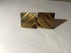 Swank Vintage Gold Cufflinks With Texture Finish