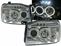 Oting D22 2001-2004 Led Halo Projector Headlight Chrome Euro For Dongfeng Lhd